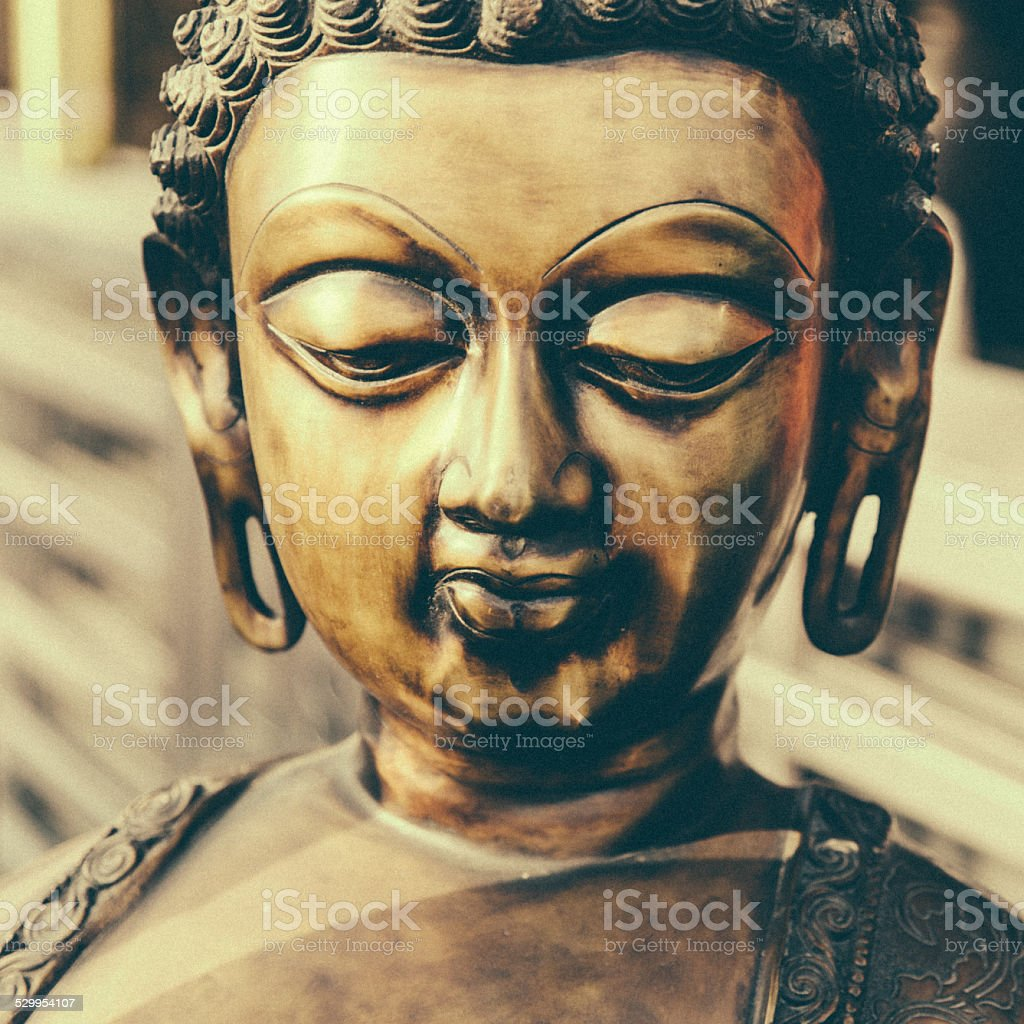 Indian Buddha statue stock photo