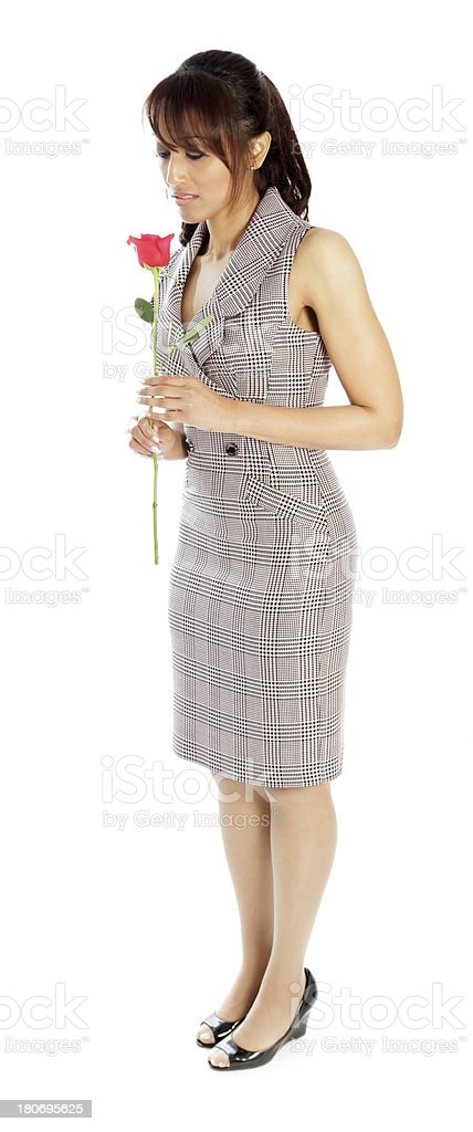 Indian business woman white background royalty-free stock photo