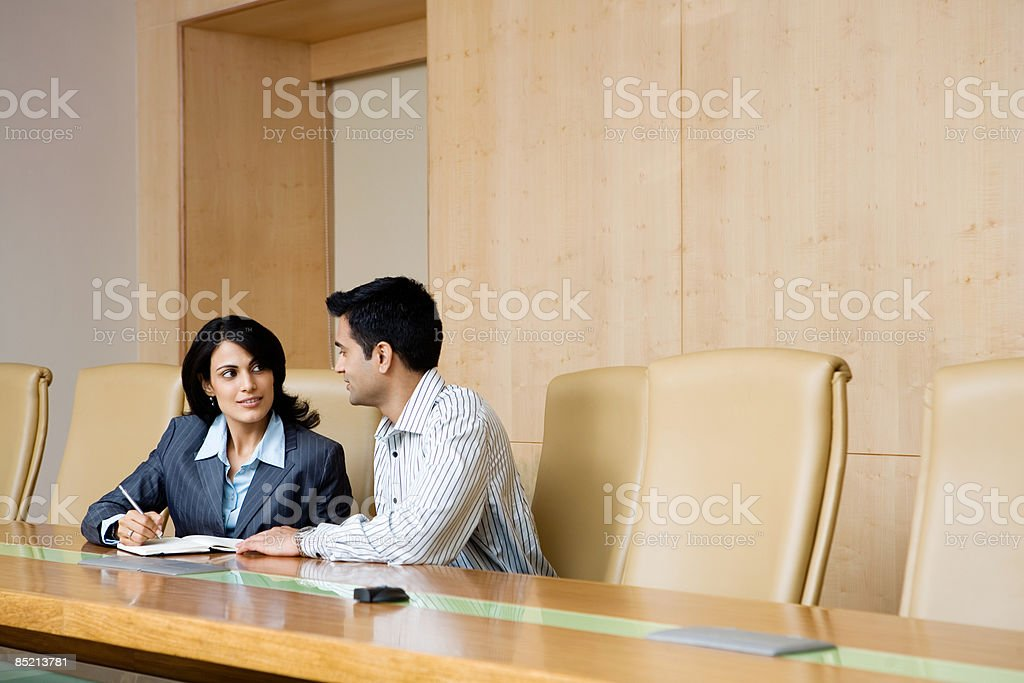 Indian businesspeople in a meeting royalty-free stock photo
