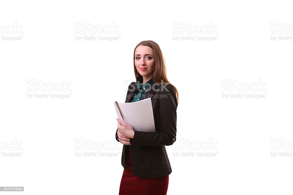 Indian businesswoman holding white placard copy space white back royalty-free stock photo