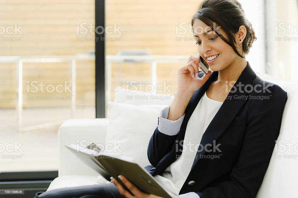 Indian businesswoman royalty-free stock photo