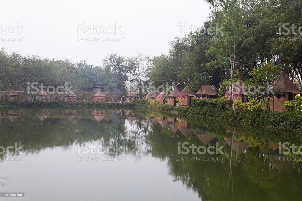 Indian camp royalty-free stock photo