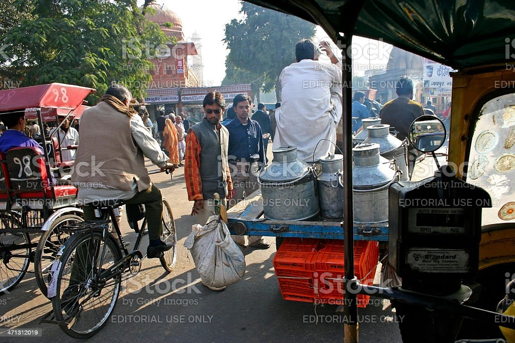 Indian caotic traffic royalty-free stock photo
