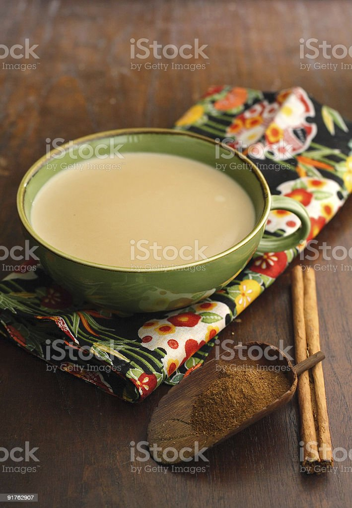indian chai milk tea stock photo