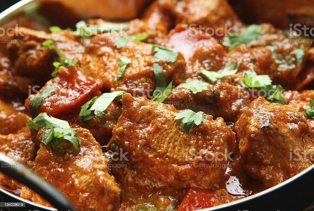 Indian Chicken and Jalfrezi curry stock photo