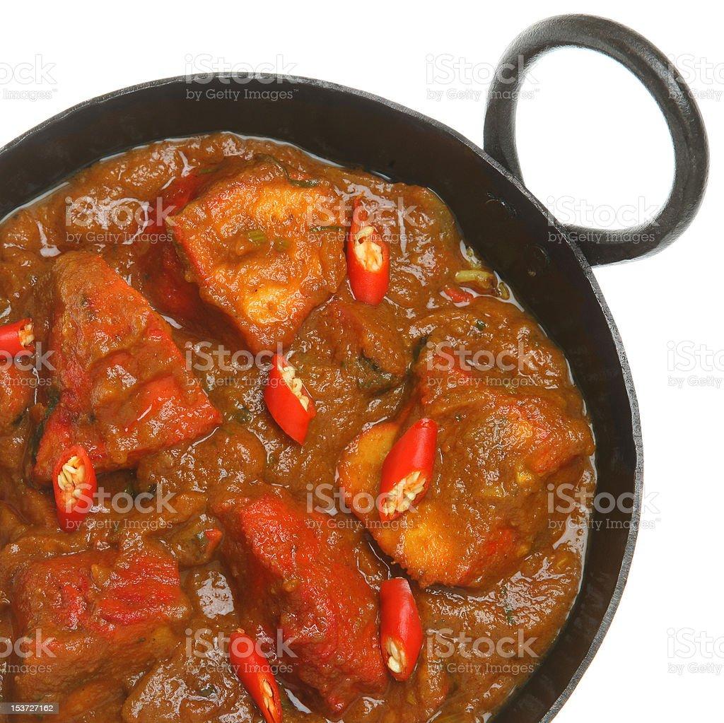 Indian Chicken Jalfrezi Curry stock photo