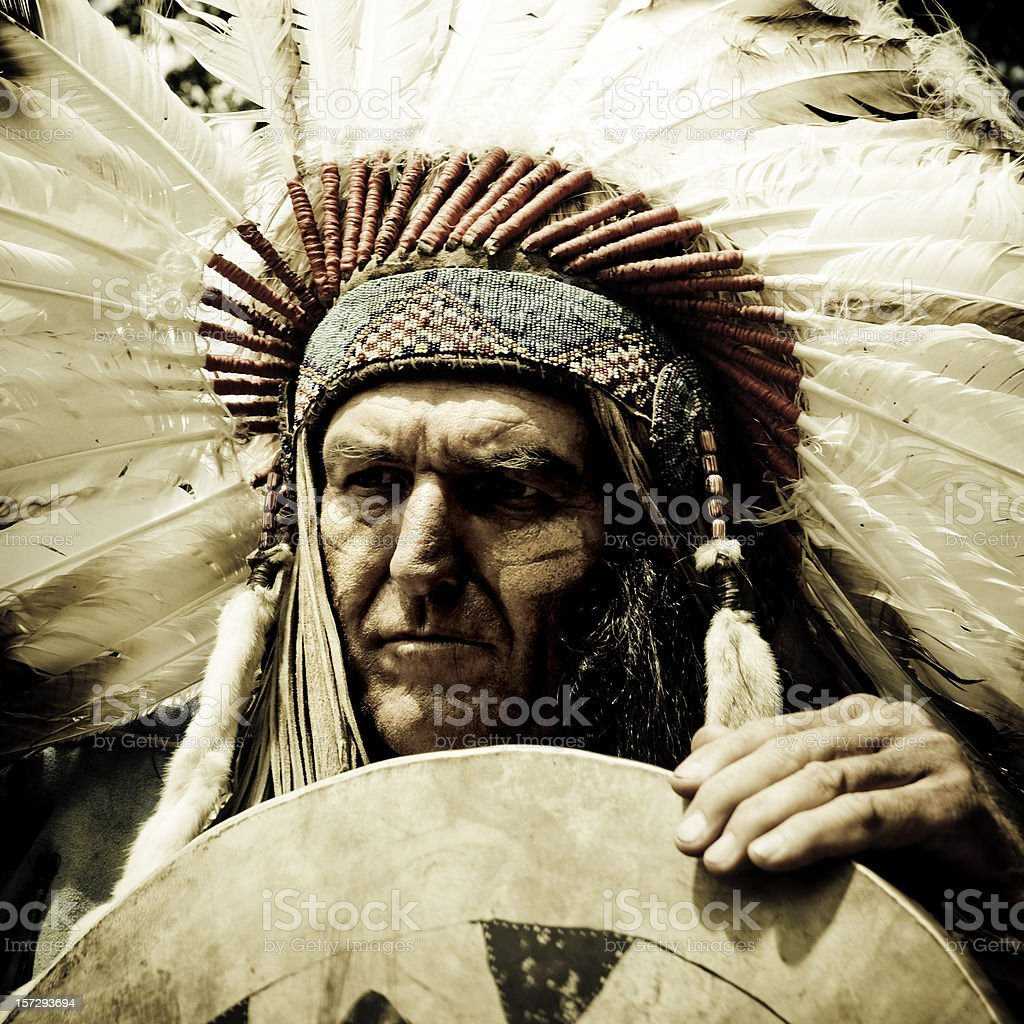 Indian Chief stock photo