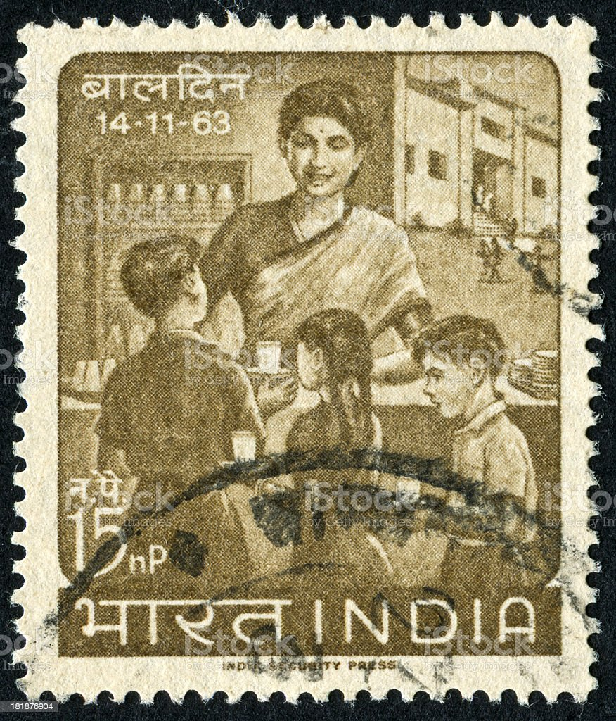 Indian Children's Day Stamp royalty-free stock photo