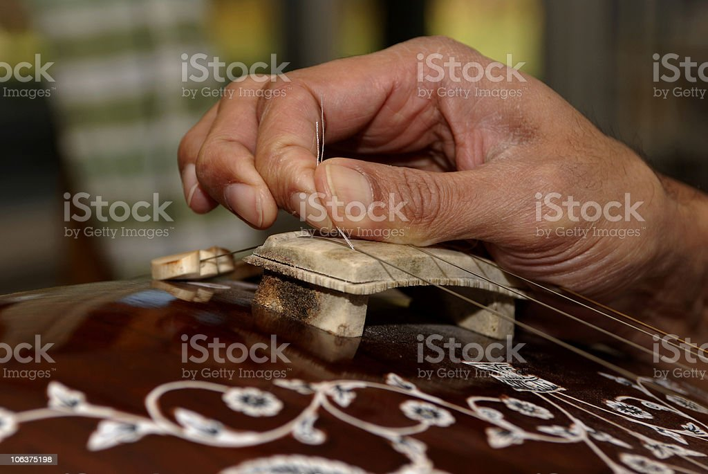Indian Classical Music Instrument stock photo