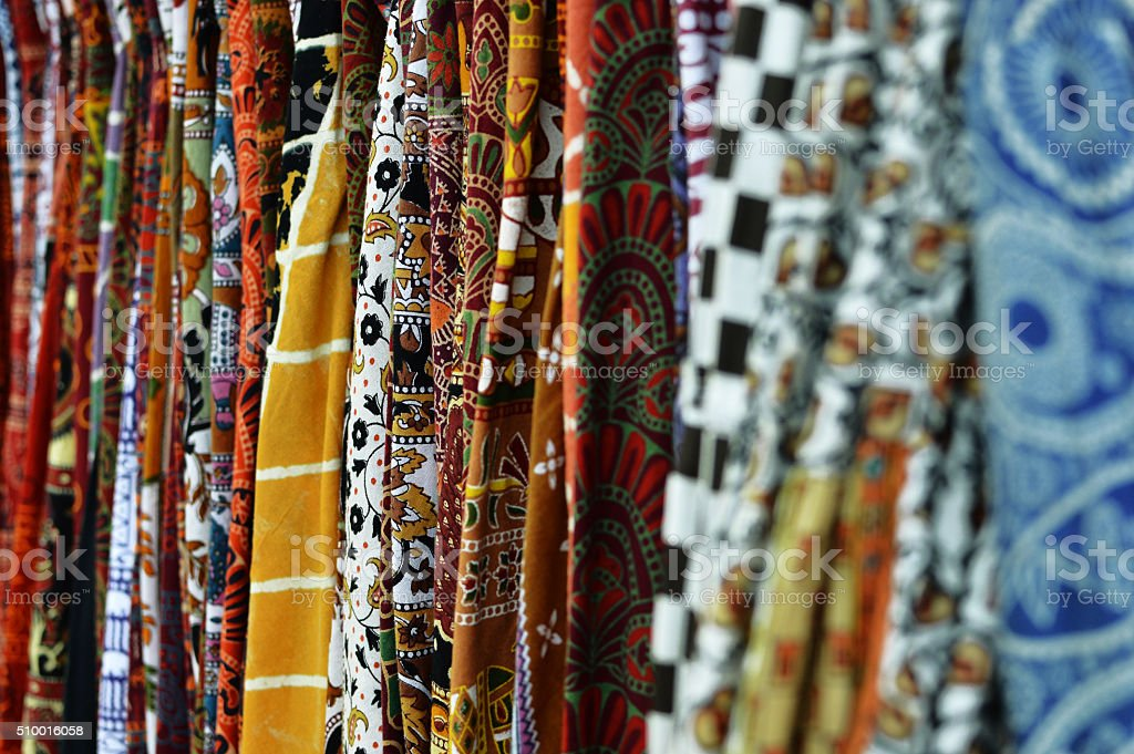 Indian Clothes Fabric stock photo