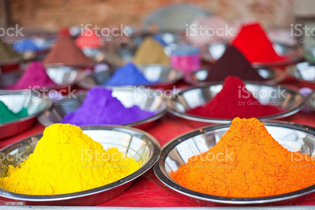 Indian Colorful Powder royalty-free stock photo
