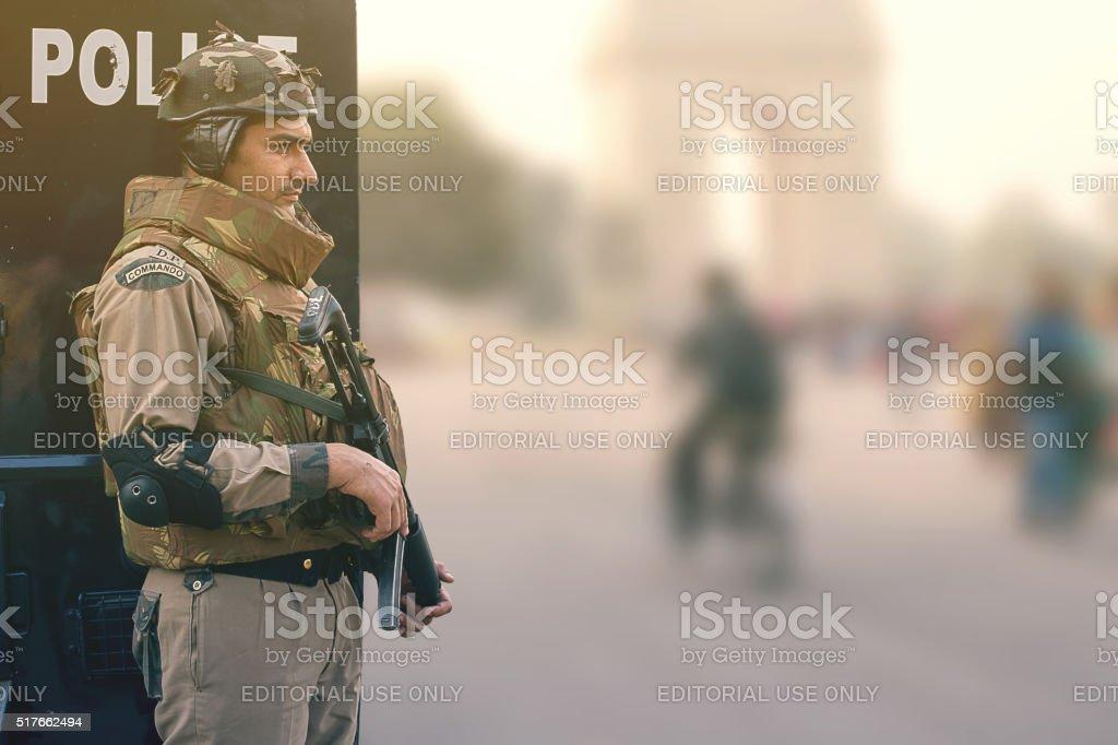 Indian commando stock photo