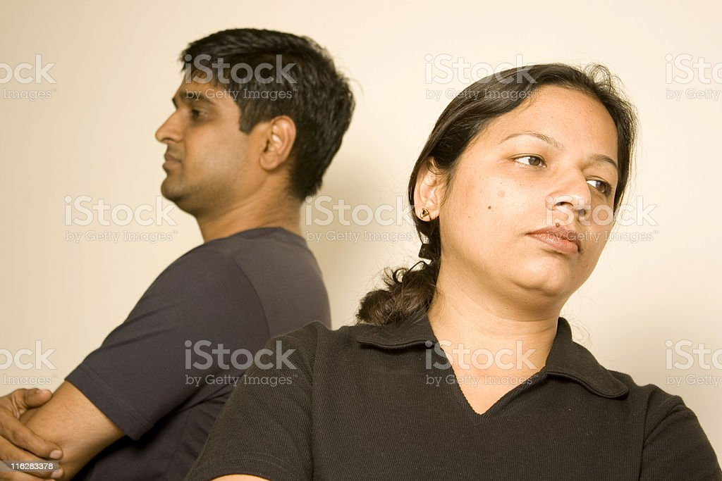 Indian Couple after fight argument People Female Male Husband Wife royalty-free stock photo