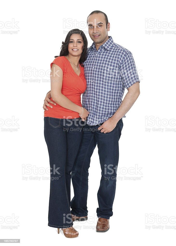 Indian Couple In Casuals royalty-free stock photo