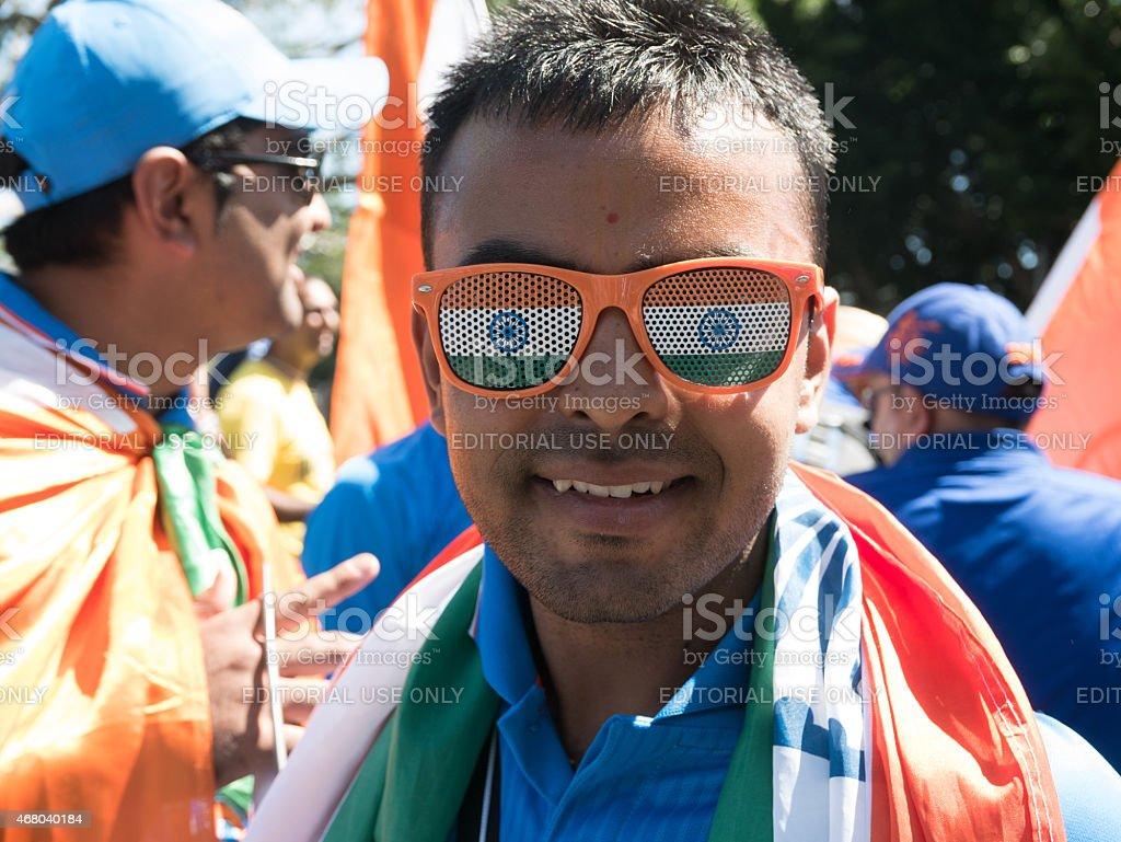Indian cricket fan stock photo