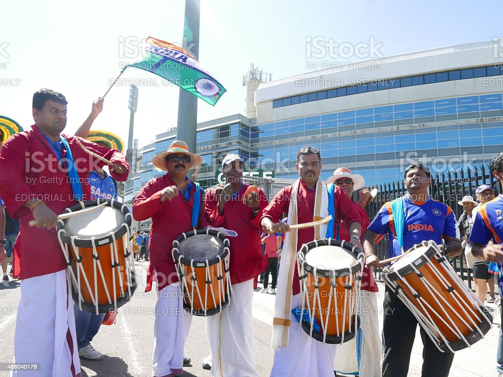 Indian cricket fans stock photo