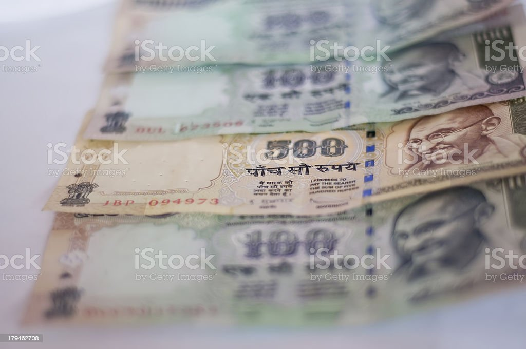 Indian Currency royalty-free stock photo