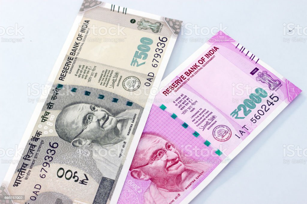 Indian currency. stock photo