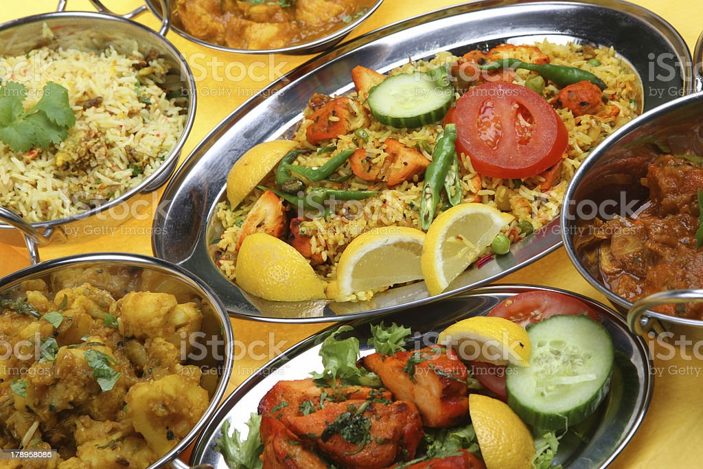 Indian Curry Dishes royalty-free stock photo