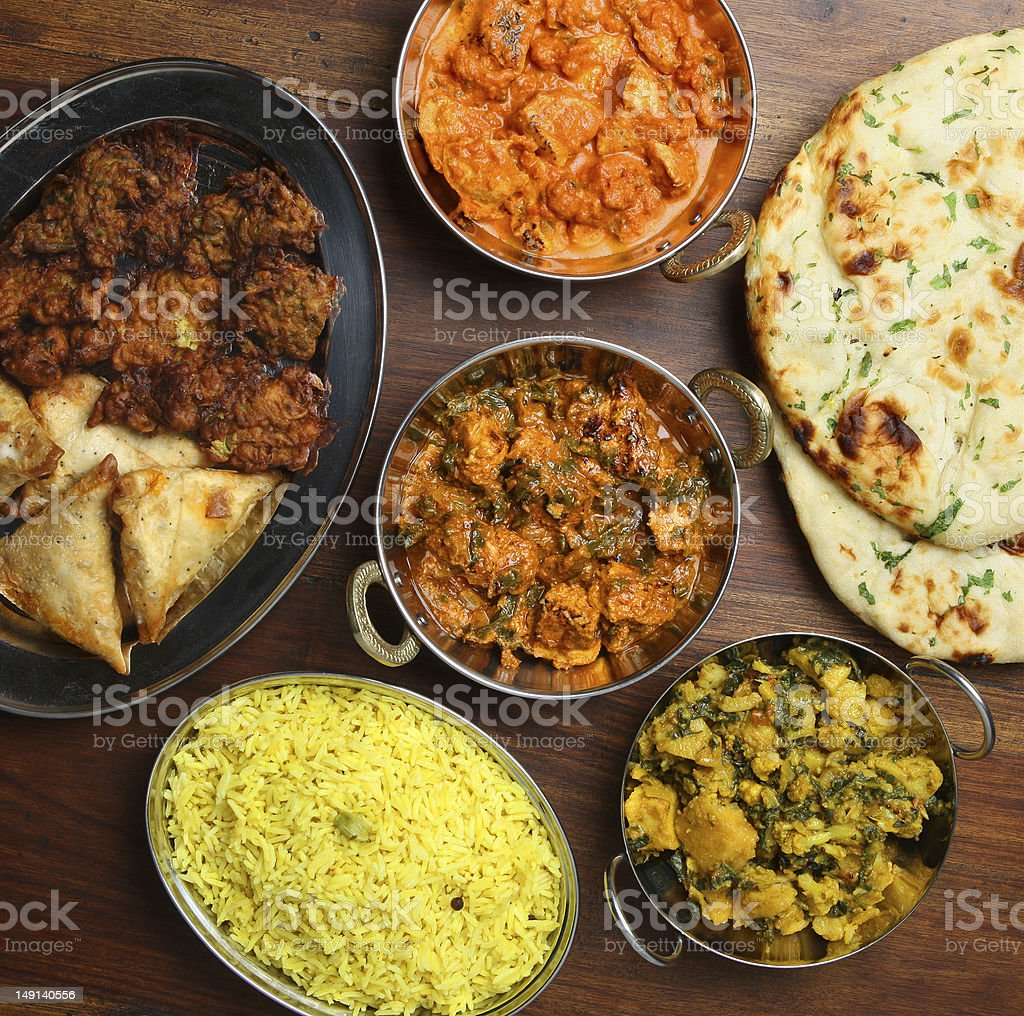 Indian Curry Food Meal stock photo