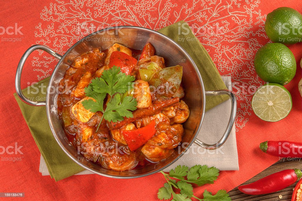 Indian curry food stock photo