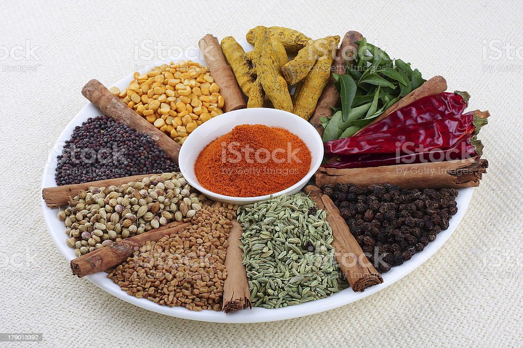indian curry masala stock photo