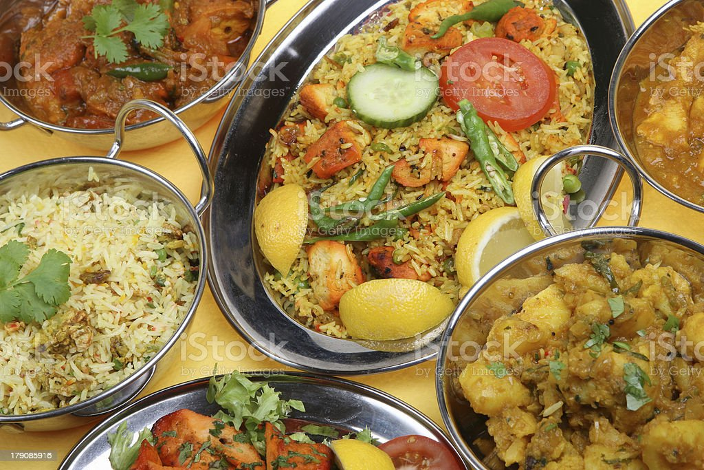 Indian Curry Meal royalty-free stock photo