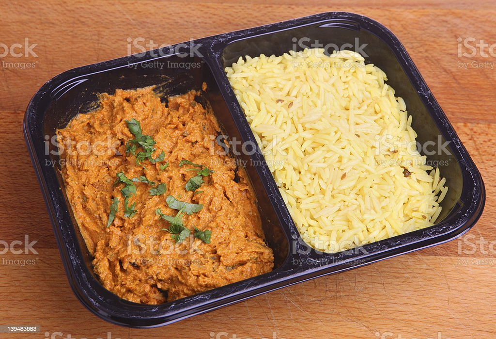 Indian Curry Ready Meal stock photo