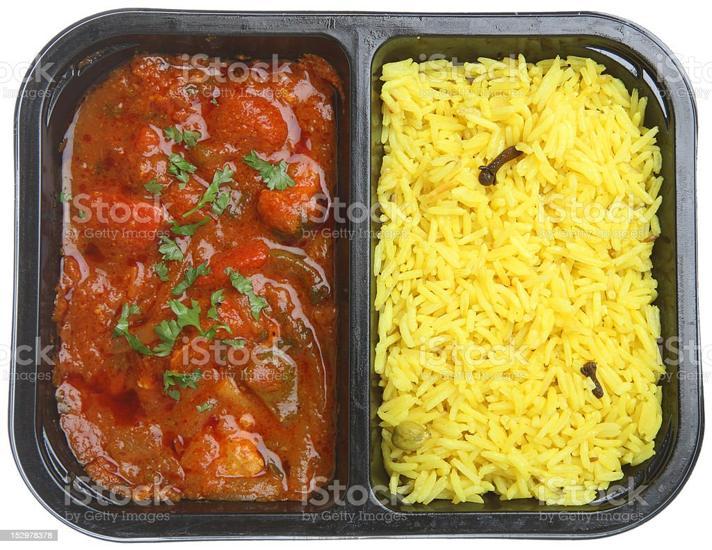 Indian Curry Ready or Microwave Meal stock photo