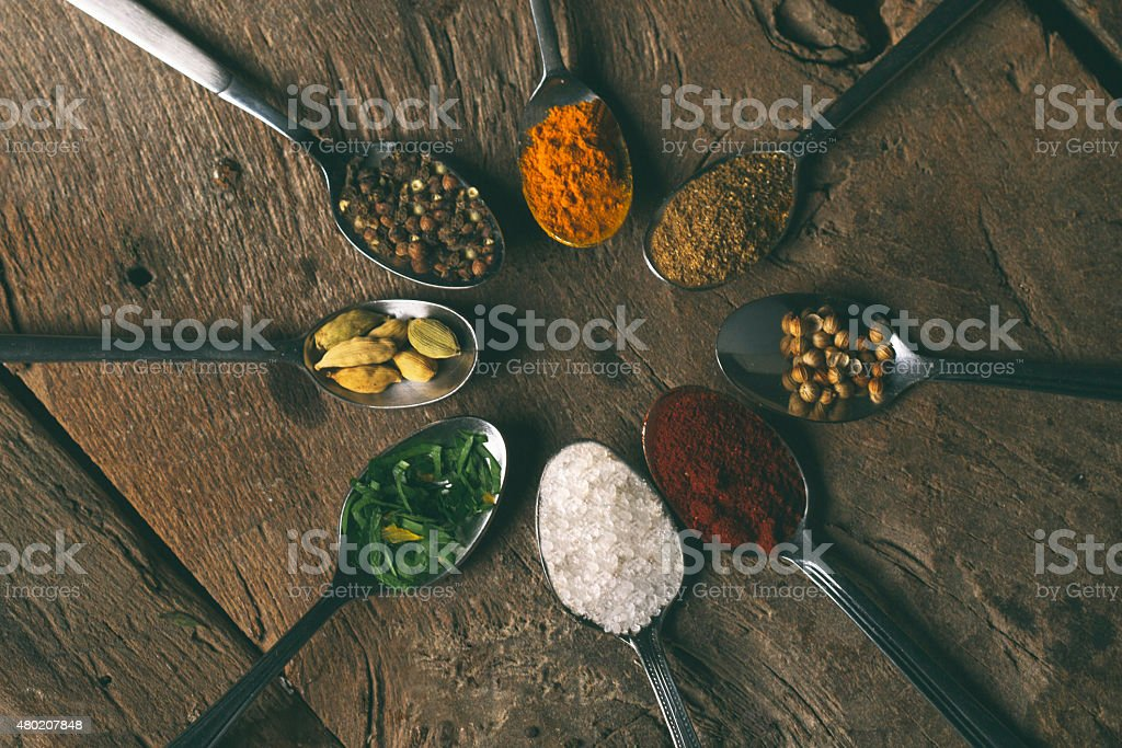 Indian curry spices stock photo