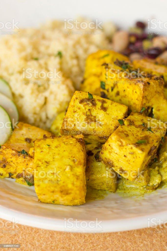 Indian Curry Tofu stock photo