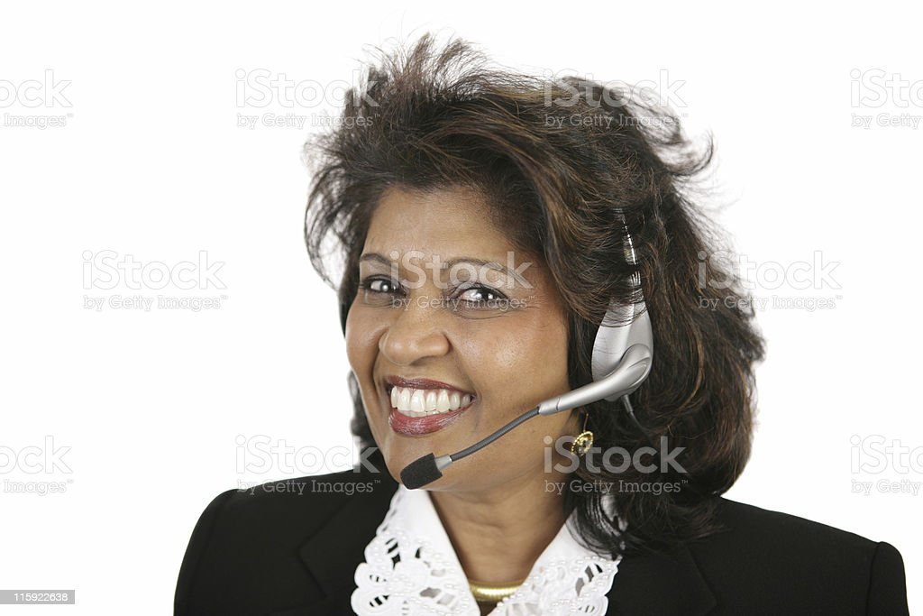 Indian Customer Service Agent royalty-free stock photo