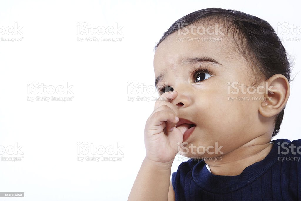 Indian Cute Baby stock photo