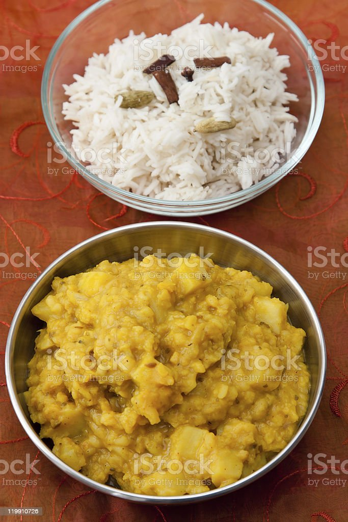 Indian Dal Dish stock photo