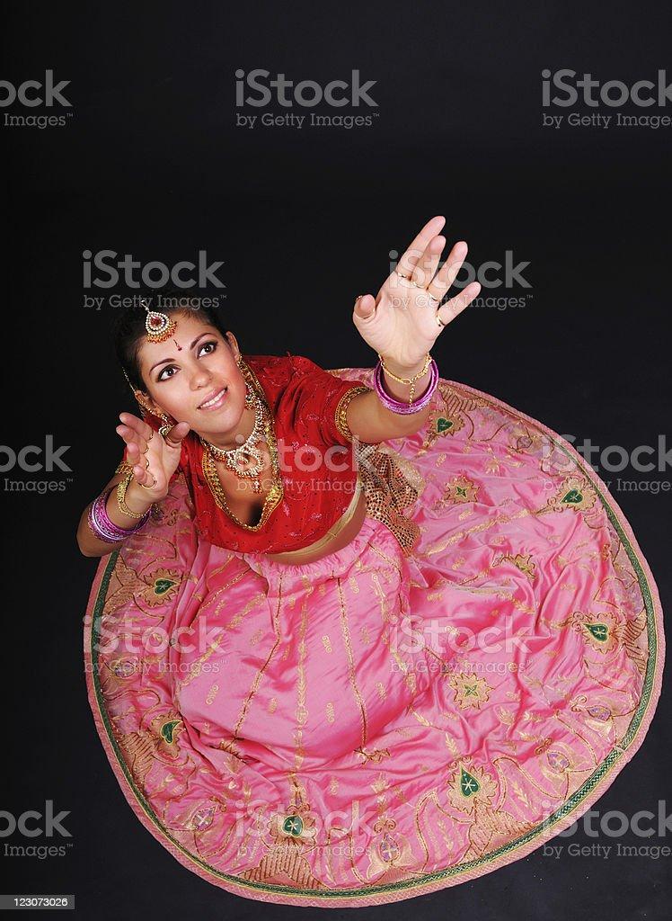 Indian dancer stock photo