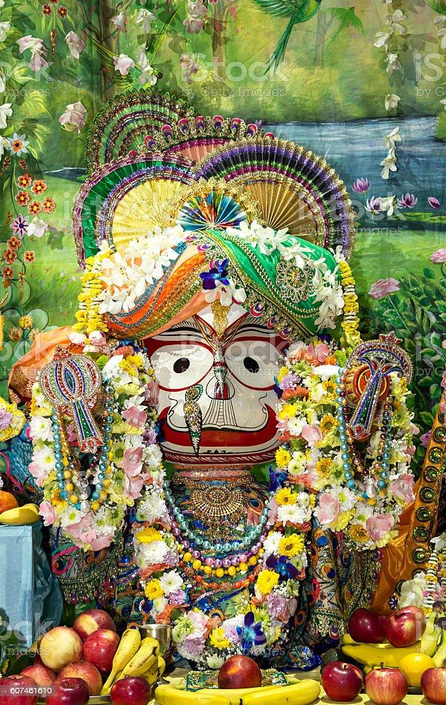 Indian Deity Balarama closeup. stock photo