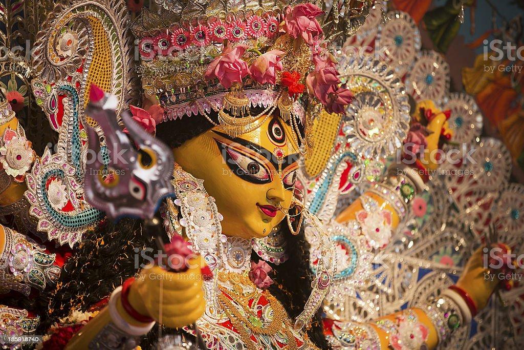 Indian Deity : Goddess during Durga Puja Celebrations. royalty-free stock photo