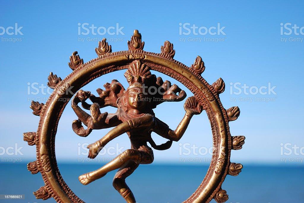 Indian Deity Shiva Nataraja Statue stock photo
