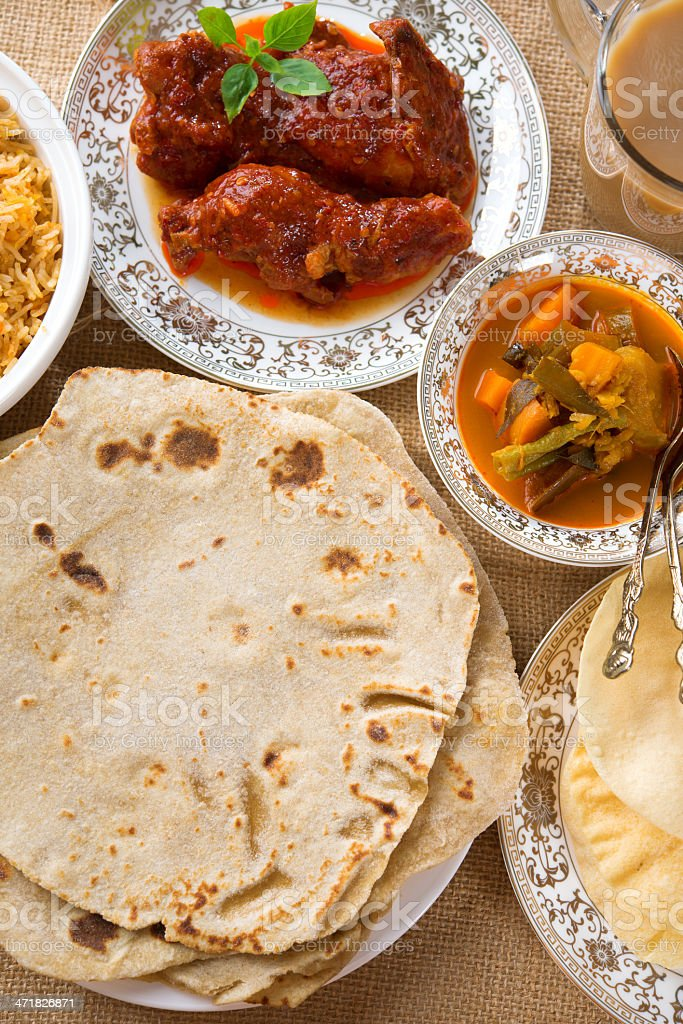 Indian dining royalty-free stock photo