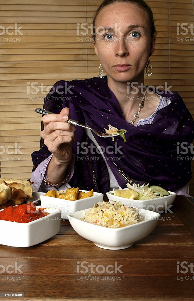 indian dinner royalty-free stock photo