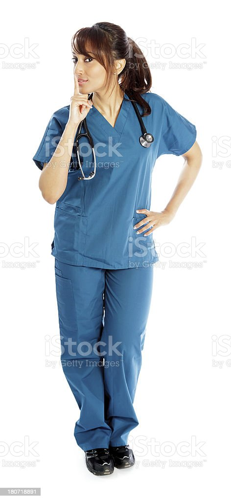 Indian doctor white background royalty-free stock photo