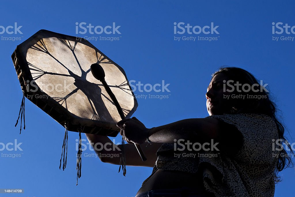 Indian drum stock photo