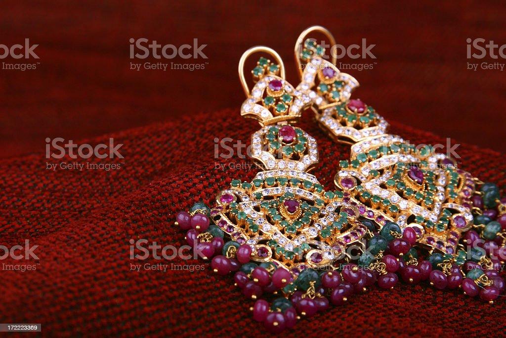 Indian Earrings stock photo
