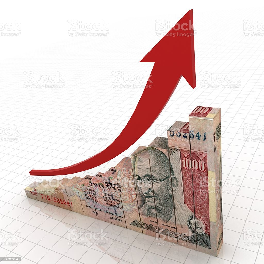 Indian Economics Growth stock photo