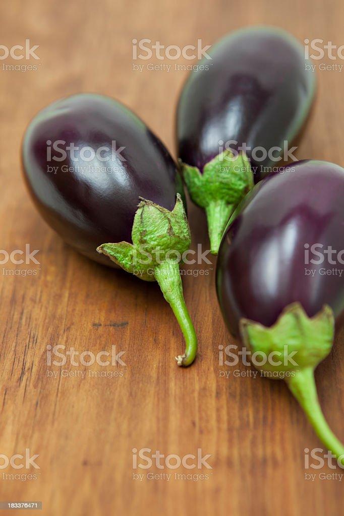 Indian eggplants stock photo