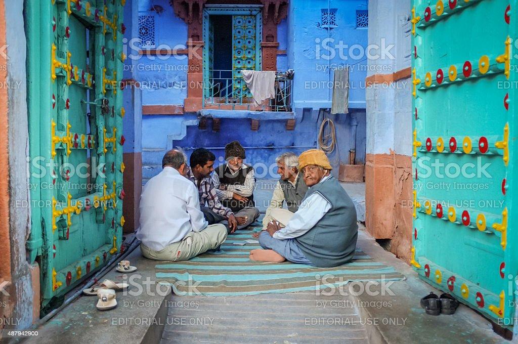 Indian elderly men stock photo