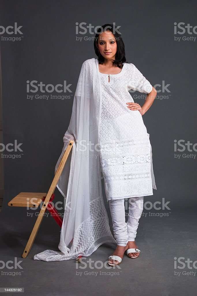 Indian Embroidered Women's Apparel stock photo