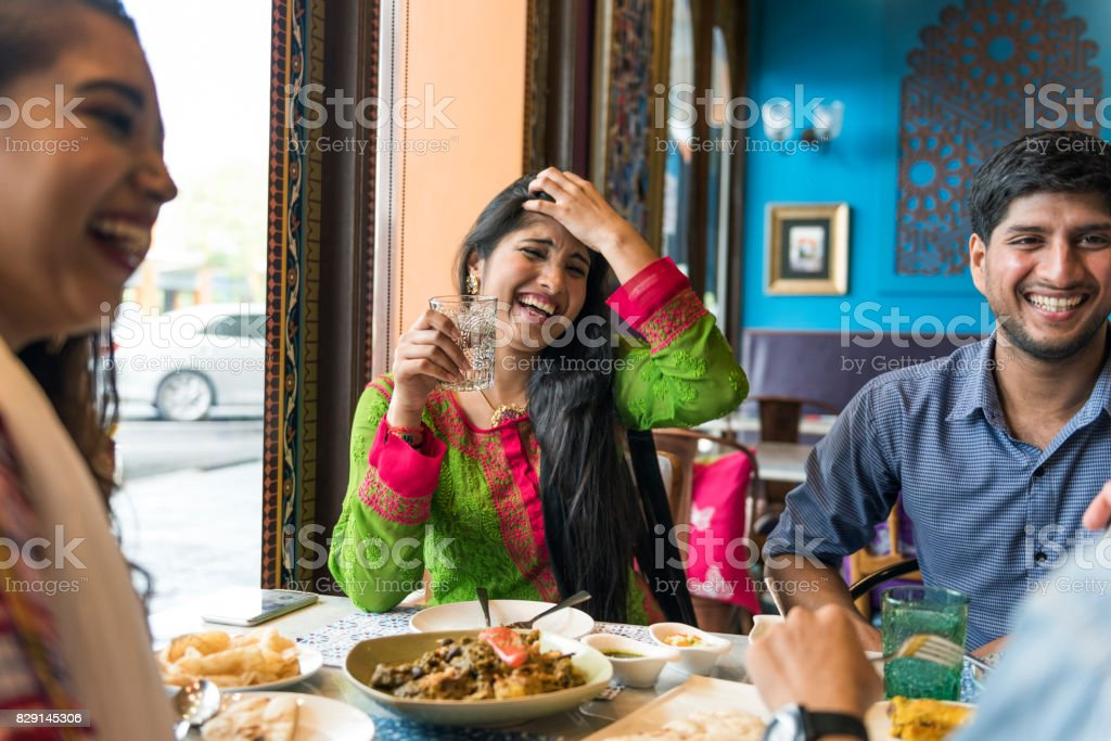 Indian Ethnicity Meal Food Roti Naan Curry Concept stock photo