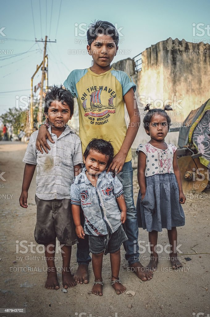 Indian family members stock photo
