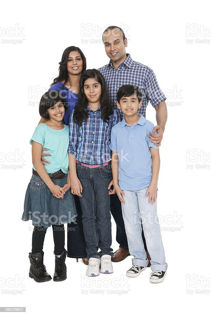 Indian Family Portrait stock photo
